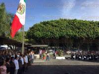 Xalapa, Ver., 30 de julio de 2015.- Acto c�vico por el CCIV aniversario luctuoso de Don Miguel Hidalgo y Costilla, en la explanada del Palacio Legislativo.