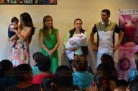 Xalapa. Ver., 1 de agosto de 2015.- Segunda Feria de Lactancia Materna en el Centro Recreativo de Xalapa; asisti� el alcalde Am�rico Z��iga y su esposa Mariana Yorio.