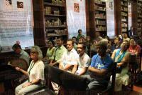 Xalapa, Ver., 1 de agosto de 2015.- Como parte de las actividades de la Feria Nacional del Libro Infantil y Juvenil, se present� el libro �El gran cocodrilo en treinta poem�nimos�, de Efra�n Huerta.