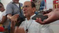 Veracruz, Ver., 27 de agosto de 2015.- El padre Alejandro Solalinde ofreci� una rueda de prensa en la Iglesia de la Merced para hablar de la problem�tica que vive el estado de Veracruz en materia de inseguridad.