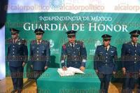 Xalapa, Ver., 1 de septiembre de 2015.- Guardia de honor a cargo de la 26 Zona Militar encabezada por Joel Vega Gasca.