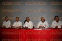 Veracruz, Ver., 3 de septiembre de 2015.- Delegados federales en rueda de prensa, informaron sobre avances en algunos sectores con motivo del III Informe del Presidente de la Rep�blica.