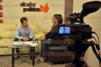Xalapa, Ver., 3 de septiembre de 2015.- El diputado local y dirigente de los 400 Pueblos, Marco Antonio del �ngel Arroyo, durante entrevista en vivo por alcalorpolitico.tv.