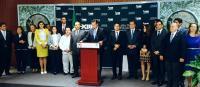 M�xico, DF., 3 de septiembre de 2015.- En conferencia de prensa los 20 diputados del PRI y del Partido Verde del estado de Veracruz exhibieron el grado de corrupci�n de Miguel �ngel Yunes Linares, �as� como el grado de impunidad con el que se ha conducido en los �ltimos a�os�.