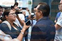 Xalapa, Ver., 4 de septiembre de 2015.- En conferencia, Omar Miranda Romero, tesorero del Comit� Directivo Estatal del Partido Acci�n Nacional, dijo que el tema de los despidos se trata s�lo de un redise�o al interior del partido y que a los trabajadores se les liquidar� conforme a derecho.