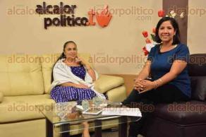 Xalapa, Ver., 6 de octubre de 2015.- La rectora de la UV, Sara Ladr�n de Guevara, durante entrevista en vivo por Alcalorpolitico.tv.