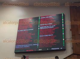 Xalapa, Ver., 8 de octubre de 2015.-Diputados locales sesionaron para aprobar el aumento al impuesto sobre n�mina.