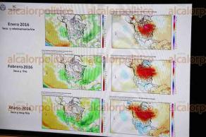 Xalapa, Ver., 9 de octubre de 2015.- Conferencia de prensa del Comit� de Meteorolog�a de la Secretar�a de Protecci�n Civil, en donde informaron todos los detalles del clima que se espera para el Estado en estos meses.