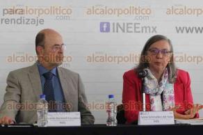 M�xico, DF, 24 de noviembre de 2015.- La consejera presidenta del INEE, Sylvia Schmelkes del Valle present� los resultados de la Evaluaci�n de Condiciones B�sicas para la Ense�anza y el Aprendizaje a nivel primaria en M�xico.