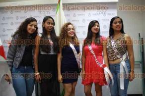 Xalapa, Ver., 25 de noviembre de 2015.- Autoridades del municipio de Emiliano Zapata junto con la reina y princesas del 5� Festival de la Noche Buena, invitan a la celebraci�n del 3 al 6 de diciembre en la comunidad de la Estanzuela.