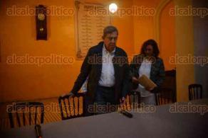 Xalapa Ver., 27 noviembre de 2015.- Conferencia �Por M�xico Hoy�, con la presencia de Cuauht�moc C�rdenas y el senador Alejandro Encinas en el Casino Xalape�o.