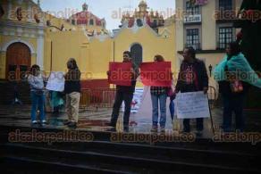 Xalapa, Ver., 28 de noviembre de 2015.- Un grupo de maestros de la CNTE se manifiesta en la Plaza Lerdo en contra de la evaluaci�n magisterial.