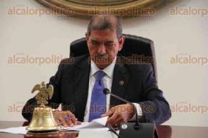 Xalapa, Ver., 1 de diciembre de 2015.- Sesi�n ordinaria del Tribunal Superior de Justicia del Estado de Veracruz, presidida por el Magistrado Alberto Sosa.