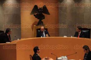 Xalapa, Ver., 5 de febrero de2016.- Sesi�n en la sala regional del Poder Judicial de la Federaci�n (TEPJF), en donde abordaron temas electorales.