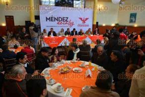 Xalapa, Ver., 8 de febrero de 2016.- Con un desayuno en el Casino Espa�ol inicia formalmente la precampa�a de Armando M�ndez de la Luz, aspirante a gobernador por parte de Movimiento Ciudadano.