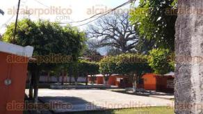 Cuichapa, Ver., 8 de febrero de 2016.- Instalaciones de las primarias �Benito Ju�rez� e �Ignacio Zaragoza� lucieron vac�as, luego de que profesores no se presentaran a laborar.