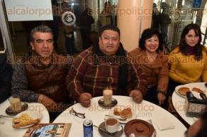 Xalapa, Ver., 10 de febrero de 2016.- En conferencia de prensa, integrantes de la CTM declararon que no reconocen a An�bal Pacheco como secretario general, en la regi�n Xalapa.