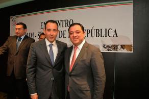 Ciudad de M�xico, CDMX., 10 de febrero de 2016.- El alcalde Am�rico Z��iga Mart�nez se reuni� con el presidente de la Mesa Directiva del Senado de la Rep�blica, Roberto Gil Zuarth.