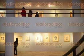 Xalapa, Ver., 11 de febrero de 2016.- Conferencia Magistral �Raul Angiano, el maestro� impartida por el muralista Melchor Peredo, en la Pinacoteca Diego Rivera.