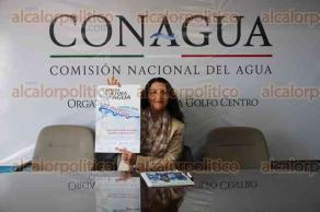 Xalapa, Ver., 12 de febrero de 2016.- En conferencia de prensa Yamilet Guerrero, encargada del programa