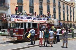 Xalapa, Ver., 1 de mayo de 2016.- El cuerpo de Bomberos Xalapa