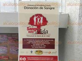 Xalapa, Ver., 4 mayo de 2016.- Jornada internacional de donaci�n de sangre, en la Facultad de Medicina de la Universidad Veracruzana.