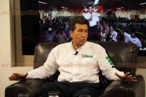 Xalapa, Ver., 23 de mayo de 2016.- H�ctor Yunes Landa, candidato a gobernador de la alianza �Para mejorar Veracruz�, en entrevista para alcalorpolitico.tv.