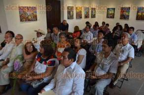 Xalapa, Ver., 27 de mayo de 2016.- Con la inauguraci�n de la muestra pict�rica de Jorge Dom�nguez en el Centro Recreativo Xalape�o iniciaron las actividades del XL Festival Huasteco.