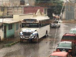 Xalapa, Ver., 28 de mayo de 2016.- La tarde de este s�bado se registr� un chubasco en la capital del Estado, provocando algunos encharcamientos.