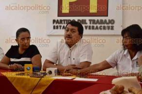 Xalapa, Ver., 31 de mayo de 2016.- El comisionado pol�tico nacional del PT, Ram�n D�az �vila, declar� que militantes del PRI, disfrazados de