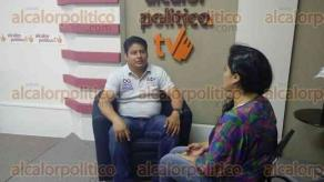 Xalapa, Ver., 31 de mayo de 2016.- El candidato del Partido Encuentro Social (PES) por el distrito de Xalapa Xl, Orfilio Garc�a, visit� las instalaciones de alcalorpolitico.com, para extender invitaci�n a su cierre de campa�a.