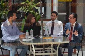 Xalapa, Ver., 24 de junio de 2016.- En entrevista para Alcalorpolitico.tv, los abogados Magda Zayas Mu�oz, Jacob Hern�ndez Mart�nez y �ngel Mu�oz Campos, hablaron sobre el caso del presunto agresor del Madame.