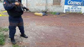 Soledad de Doblado, Ver., 25 de junio de 2016.- A un costado del pante�n municipal fueron halladas 5 bolsas negras con presuntos restos humanos, vecinos alertaron a las autoridades quienes acordonaron el lugar.