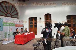Xalapa, Ver., 28 de junio de 2016.- Rodolfo Mendoza Rosendo, director del IVEC, acompa�ado por el productor de cine Ricardo Benet y H�ctor Ram�rez de IMCINE, dieron a conocer el proyecto de alcance nacional Red Nacional de Polos Audiovisuales en Veracruz, que tendr� como sede la localidad de Coyolillo.