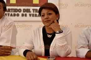 Xalapa, Ver., 28 de junio de 2016.- Ram�n D�az �vila, comisionado pol�tico nacional del Partido del Trabajo, declar� que respetar�n y apoyar�n los nombramientos que haga el Congreso del Estado.
