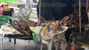 Orizaba, Ver., 28 de junio de 2016.- Bernarda Rosas comerciante de Ixhuatlancillo cumple 37 d�as en huelga de hambre en el parque
