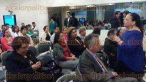 Xalapa, Ver., 29 de junio de 2016.- Reuni�n anual de la Sociedad Veracruzana de Salud P�blica, en la USBI, a la cual asisti� el secretario de Salud, Fernando Ben�tez Obeso.