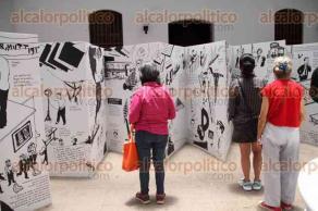 Xalapa, Ver., 23 de julio de 2016.- Fran�ois Olislaeger inaugur� su exposici�n Marcel Duchamp, en el patio central de la Galer�a de Arte Contempor�neo.