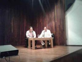 Xalapa, Ver., 27 de julio de 2016.- En la Galer�a de Arte Contempor�neo fue presentada la ponencia
