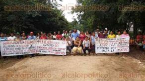 Tezonapa, Ver., 28 de julio de 2016. - Habitantes de El Palmar exigen la regularizaci�n de 28 lotes, pues temen que un grupo de invasores se apodere de �stos.
