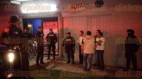 Xalapa, Ver., 28 de julio de 2016.- Inspeccionaron la madrugada de este jueves centros nocturnos como parte de un operativo efectuado en conjunto por SSP y la Subdirecci�n de Comercio del Ayuntamiento.