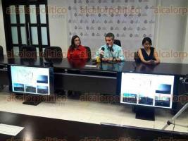 Xalapa, Ver., 29 de julio de 2016.- Conferencia de prensa del Comit� de Meteorolog�a, con el coordinador Federico Acevedo Rosas; la jefa de Hidrometeorolog�a de CONAGUA, Jessica Luna y la titular de PC, Yolanda Guti�rrez.