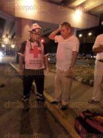 Veracruz, Ver., 30 de julio de 2016.- Movilizaci�n policiaca sobre la avenida Miguel Alem�n por la alerta de una mujer de 66 a�os de edad arrollada por un autob�s de la ruta Torrentes-Loma 4-Bolivar; seg�n testigos tras el hecho, el chofer se dio a la fuga para evitar ser detenido.