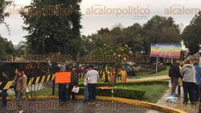 Xalapa, Ver., 24 de agosto de 2016.- Productores y trabajadores del ingenio San Francisco en Lerdo de Tejada, tomaron la las oficinas de la SEFIPLAN.