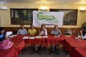 Xalapa, Ver., 25 de agosto de 2016.- La COPIPEV, en conferencia de prensa, exige que el Gobierno del Estado liquide la deuda de 7 mil mdp que tiene con el IPE.