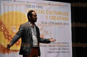 Xalapa, Ver., 26 de agosto de 2016.- Conferencia magistral