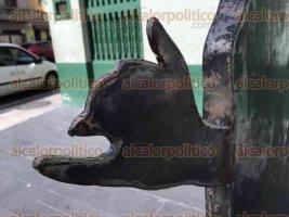 Veracruz, Ver., 30 de agosto de 2016.- Inicia la restauraci�n de la estatua de Graciana Silva