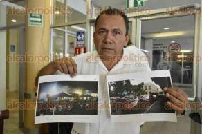 Xalapa, Ver., 31 de agosto de 2016.- En conferencia, H�ctor Castillo, comerciante del centro de Coatepec, declar� que han sufrido distintos atropellos por parte del Alcalde de Coatepec, al retirar de manera arbitraria las terrazas.