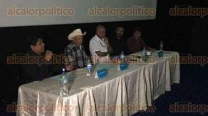 Xalapa, Ver., 25 de septiembre de 2016.- Conferencia en Cin�polis con motivo de la exhibici�n del cortometraje Don Isidro, una vida pastoreando, dentro del 20� Tour De Cine Franc�s.