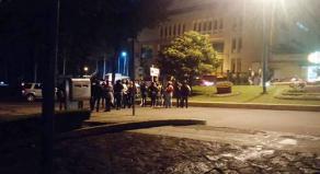 Xalapa, Ver., 26 de septiembre de 2016.- Docentes ya bloquean avenida Ruiz Cortines a la altura de SEFIPLAN, extreme precauciones.